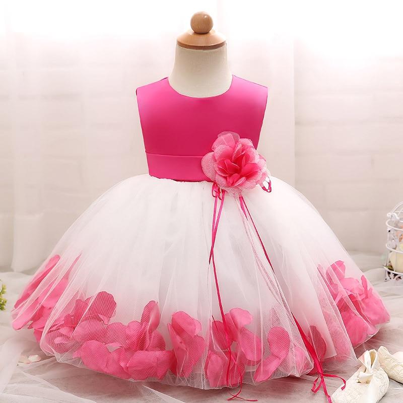 35ec07510 Vestido de niña de las flores para boda bebé 1-10 años traje de cumpleaños  niñas de la Primera Comunión Vestidos Niña niños ropa de fiesta