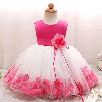 9cc55fcb7 Vestido de niña de las flores para boda bebé 1-10 años traje de cumpleaños niñas  de la Primera Comunión Vestidos Niña niños ropa de fiesta