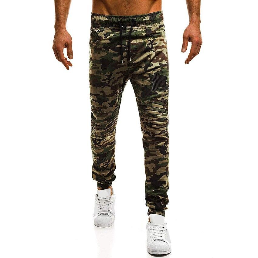 Men Fashion Camouflage Slim Fit Long Pants 2018 Summer New High Quality Men Joggers Stylish Hip Hop Pants Men