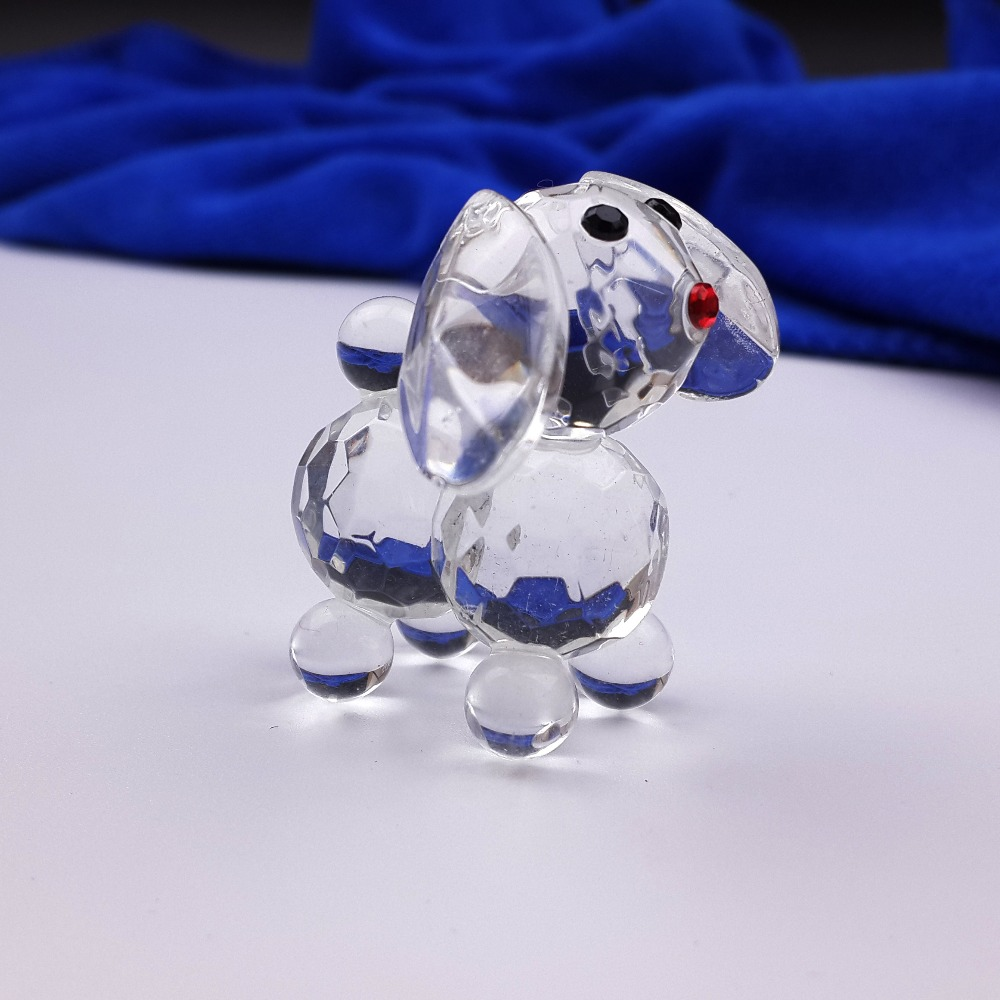 Return Gifts For Wedding Guests: 30PCS/LOT Crystal Dog Sculpture Animal Miniature Wedding