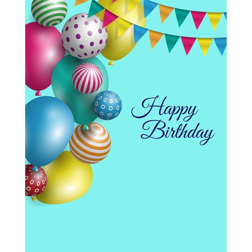 Happy Birthday Baby Studios Backgrounds 150x200cm Digital