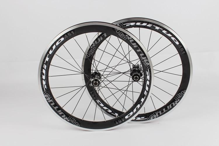 RT 451 disc/V brake wheelset straight pull knife 17 new wheel group 20 * 1 / 8 front 2 rear 5 Peilin 120 ring rim rims