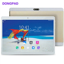 DONGPAD Android 7.0 10 inch Tablet PC Octa Core 4GB RAM 32GB ROM IPS Touch Screen 1920X1200 Cellphone 5000mAh Battery Bluetooth