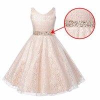 11 11 New Year Girls Birthday Girl Dress Cute Sleeveless Vest Princess Lace Dress 13 Color