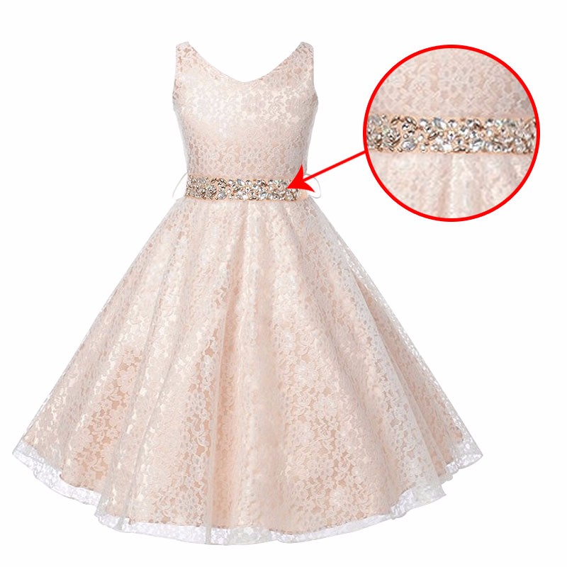 New Year Sequins Girl Dress+Belt Sleeveless Princess Lace Dress V Neck Baby Girls Vestido Christmas Party For Girls Clothes new year spring 2016 new corduroy pleated dress dress red princess dress