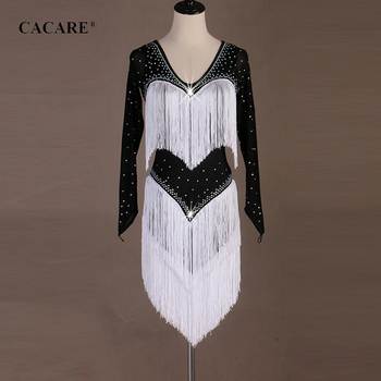 CACARE Latin Dance Dress Women Latin Dance Competition Dresses Fringe Dress Salsa Costumes Ballroom Tango CHEAP D0608 Tassel Hem