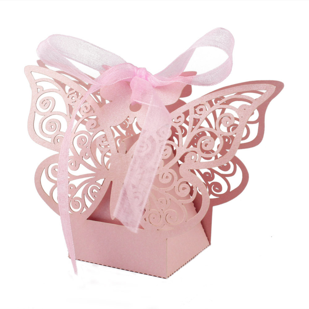 20Pcs/lot Candy Bag Laser Cut Hollow Multicolor Butterfly Candy Box ...
