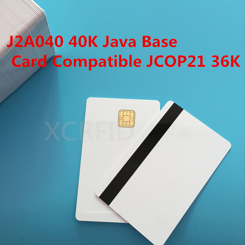 J2A040 Chip JAVA Smart Card w/ Hi Co 2 Track Mag Stripe JCOP21 36K 200 Pcs / Pack 200pcs lot customable 8 4mm mag stripe 2 track pvc smart ic card for iso hi co 2750 3000 4000 oe