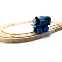 P058 High Quality Thomas Wood Track 12pcs 1pcs Small Fat Thomas Children S The Classic Toys