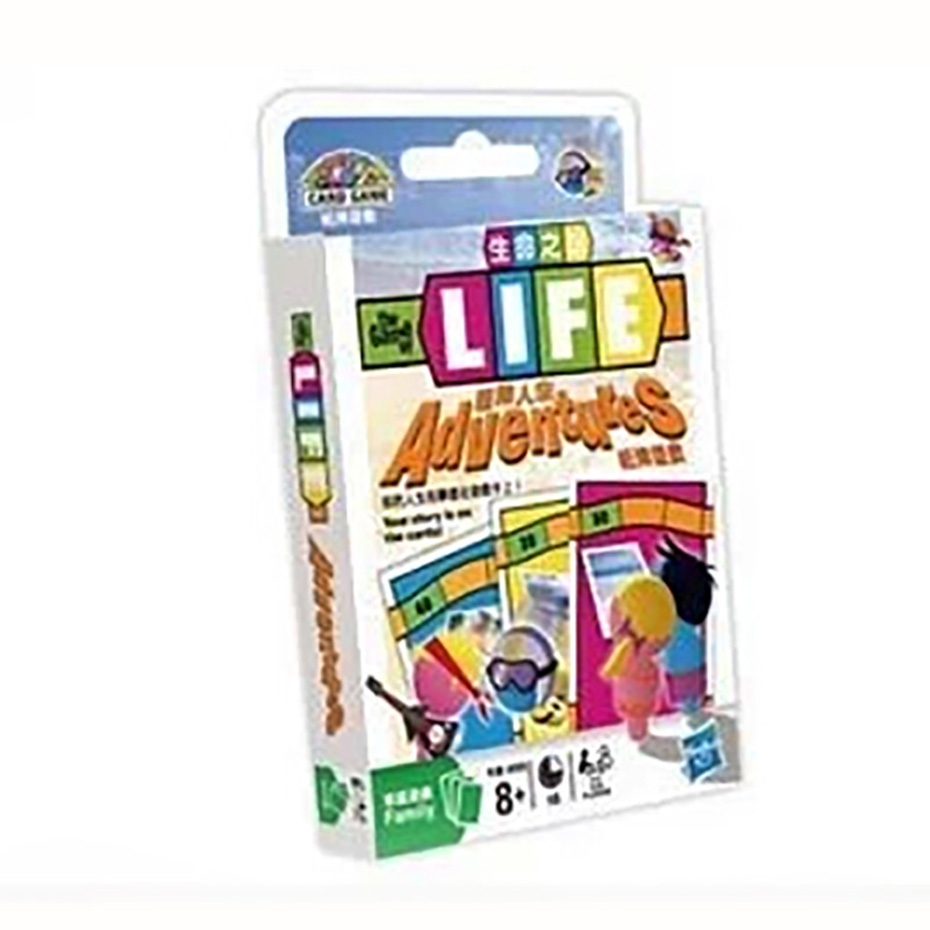 Best Gift The Game of Life: Adventures Card Game 2-4 Players to Play Family/Party/ Friends Funny Classic Strategy Cards Game