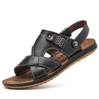 2018 Summer Leather Men's Sandals, Beach Shoes, Wholesale Casual Cool Slippers, New Fashion Shoes, A Replacement.