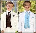 Por encargo de marfil del muchacho de ocasión Formal niños traje para boda niños vestimenta ( Jacket + Pants + Vest + tie ) chicos dress Suit envío gratis
