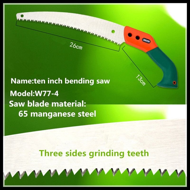 Ten-inch garden saws garden hand tools gardening woodworking saws (W77-4) folding garden saws garden hand tools gardening carpentry outdoor saws single saw w77
