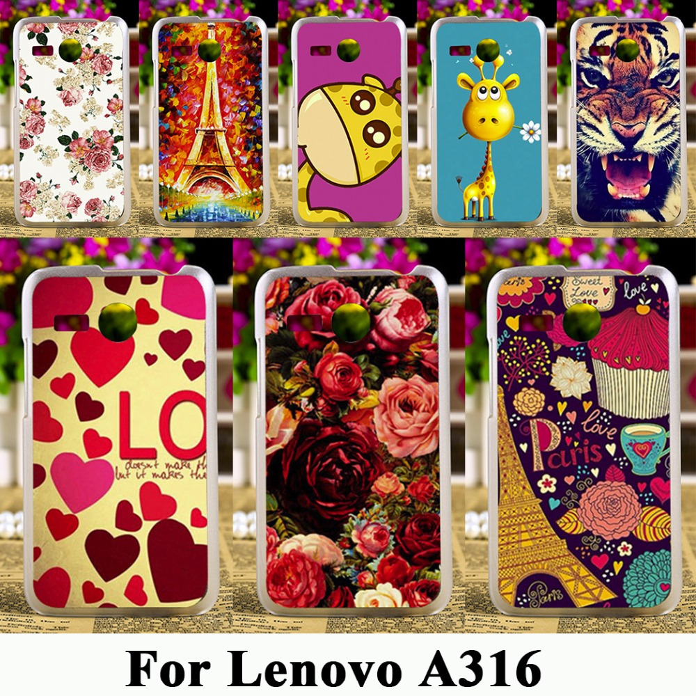 TAOYUNXI Hard Plastic Phone Case For font b Lenovo b font A316 4 0 inch A316I