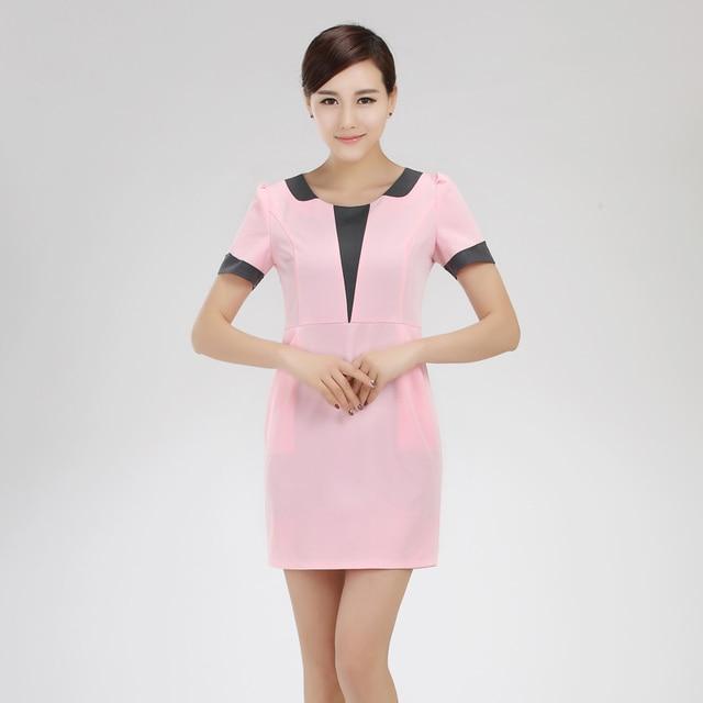 3cd2d95736b Livraison Gratuite Pas Cher Travail Vêtements Femmes Cosmétiques Shopping  Guide Uniforme Plus La Taille Société Réceptionniste