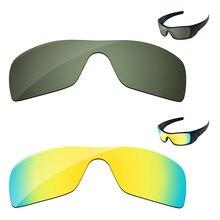 a8cb2b2980 24 K de oro y Verde Negro 2 piezas polarizadas lentes para Batwolf gafas de  sol marco 100% UVA y UVB protección