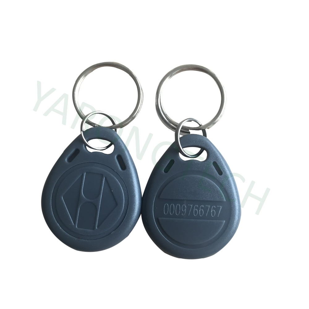 Proximity Tag RFID 125khz Access Control Key Fobs Read Only Grey Color ABS Waterproof -10pcs/lot