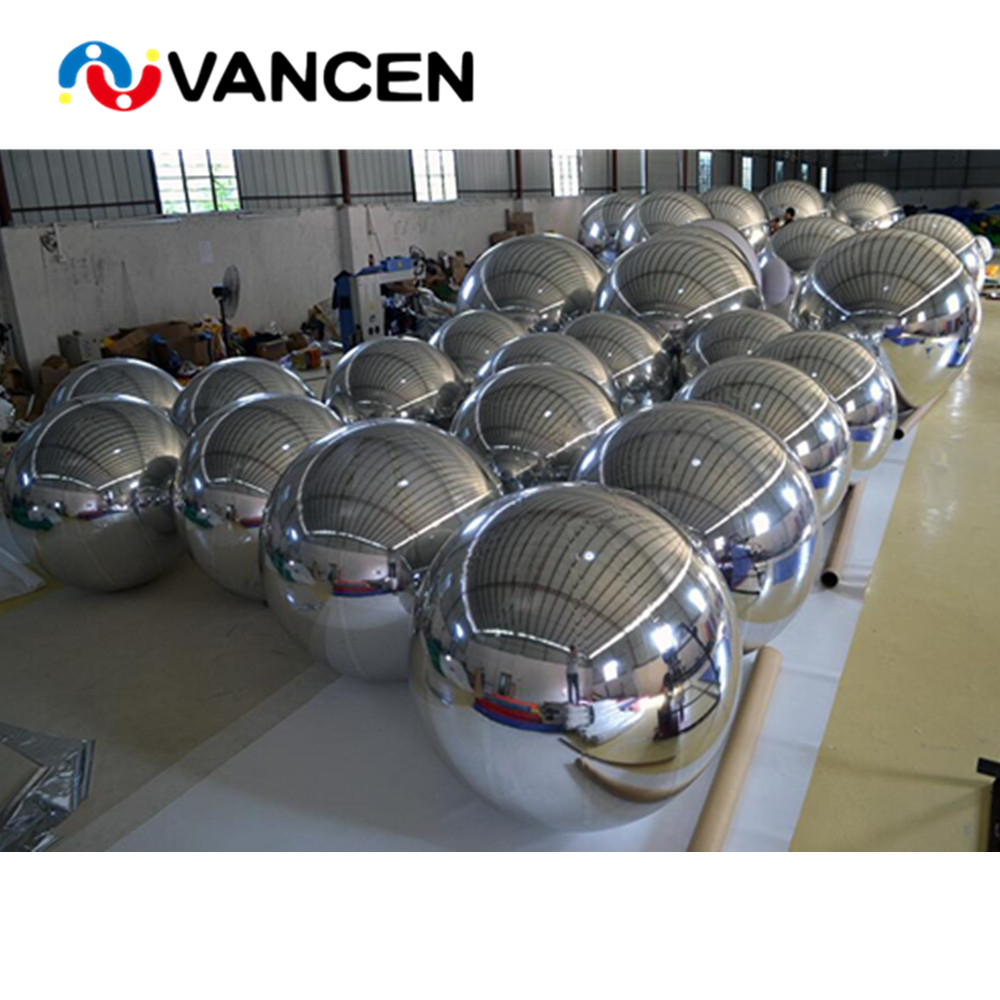 Nastro molti formato gonfiabile mirror ball decorazione di pubblicità di alta qualità pvc gonfiabile palla a specchio per la vendita - 2