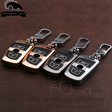 Zinc alloy cover Remote Key Case Car Key Shell for BMW 3 5 6 7 series f02 F10 F11 F20 F25 F26 F30 car styling car aluminium alloy key case cover