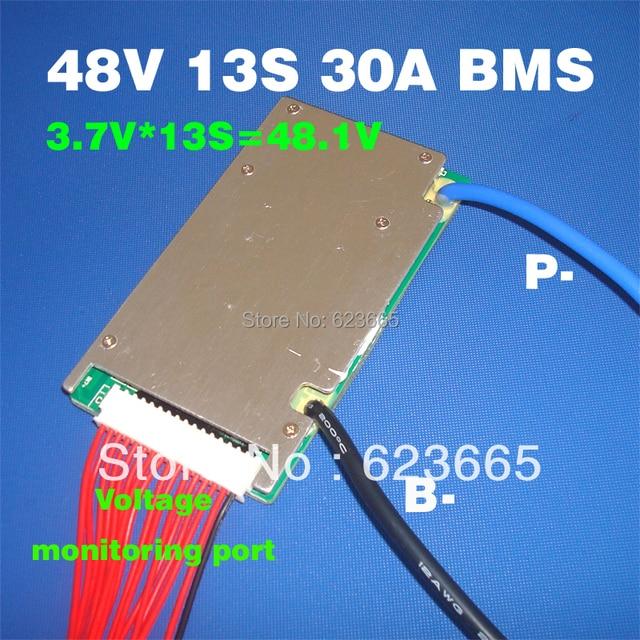 48 В в BMS 13 s BMS используется для В 48 В 10ah 20ah 30ah 40ah 50ah литий-ионный аккумулятор 3,7 В в ячейка S 13 s PCM/PCB/BMS с функцией баланса