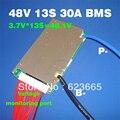 48 V BMS 13 S BMS usado para 48 v 10ah 20ah 30ah 40ah 50ah li-ion bateria 3.7 v celular 13 s PCM/PCB/BMS Com função de equilíbrio