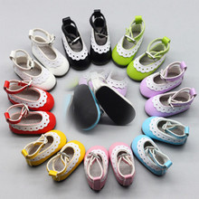 1 Pair 5cm PU Leather Shoes for 1/6 Doll Fashion Mini Toy Black Red Purple Blue Pink Russian Accessories