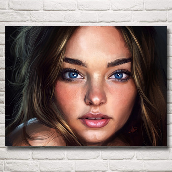 FOOCAME Miranda Kerr Girl Super Model Art Silk Posters and Prints Painting Home Decor Wall Pictures For Living Room 24x32 Inches