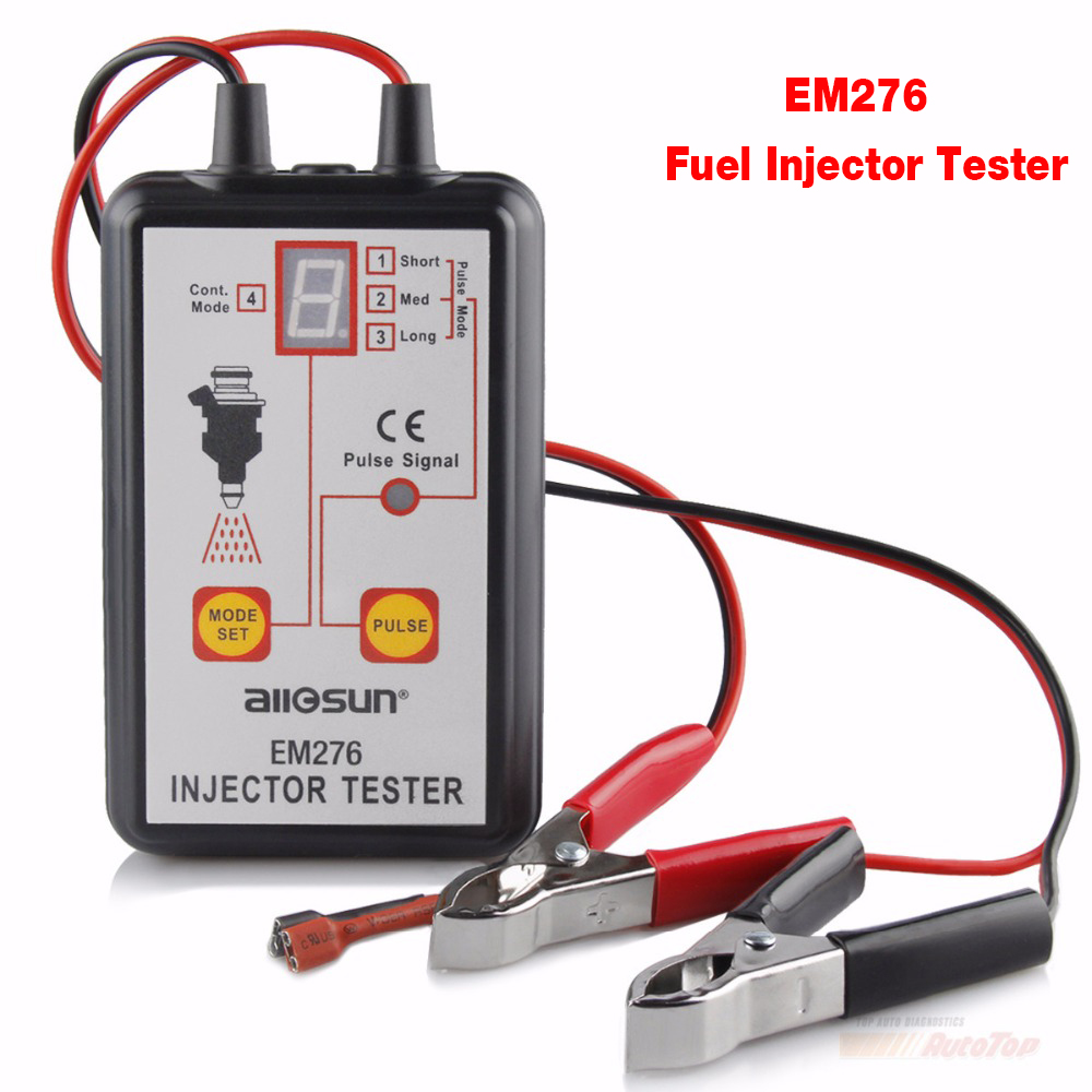 2018 Injector Tester Best Fuel Pressure Tester with 4 Pulse Modes All Sun EM276 Pump System Diagnostics Injectors Fuel Analyzer injector dynamics toyota corolla gts 4age id2000 fuel injectors 1983 83