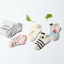 5 пар/лот, новые весенние детские хлопковые носки для мальчиков и девочек, детские модные спортивные носки с мультяшными животными для детей, подарки, От 3 до 12 лет