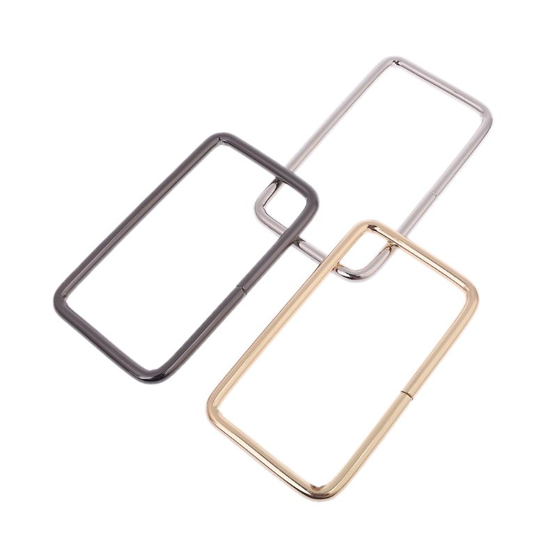 1 Pair WoMan Metal Rectangle Shaped Handle ReplaceMant For Purse Beach Bag Handbag