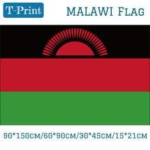 90*150cm/60*90cm Malawi Bandeira Nacional 3x5ft Bandeira Pendurada Poliéster 100d 30*45cm/15*21cm