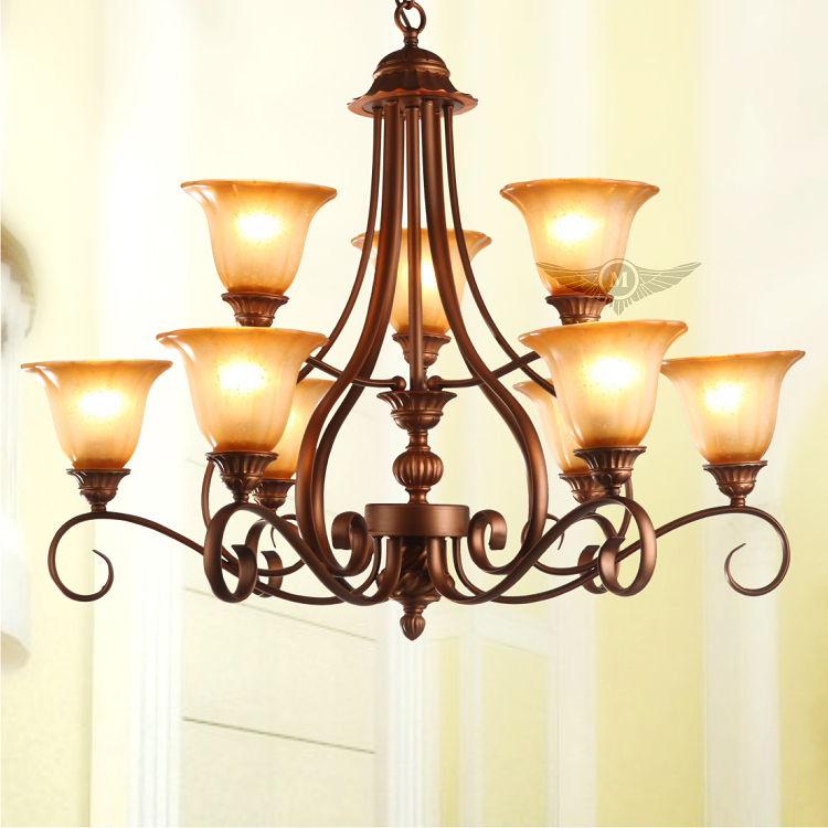 Fashion double deck vintage american country style chandelier fashion double deck vintage american country style chandelier lighting 8039 6h3h in chandeliers from lights lighting on aliexpress alibaba group aloadofball Image collections