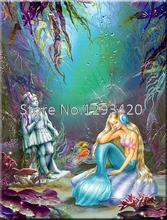 Sea world mermaid 5d Diamond Mosaic Full Painting Cross Stitch Embroidery Cartoon Child Room Art Decoration
