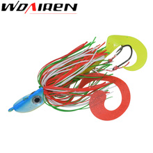 1Pcs Fishing Lure Jig Head Bait Rubber Threads Skirts Straps Squid 29g Head Lures Beard Wire Fishing Accessory Pesca WD-157