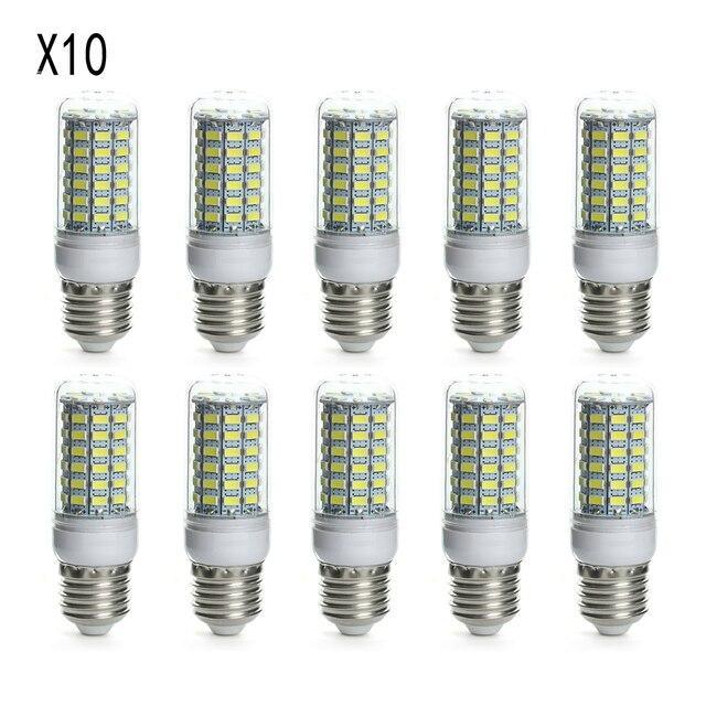 Lots 10 Pcs E27 LED 10W 6500K White Lights Lamps Bulbs AC 220V-240V 5730SMD