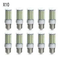 Lots 10 Pcs E27 LED 10W 6500K White Lights Lamps Bulbs AC 220V 240V 5730SMD