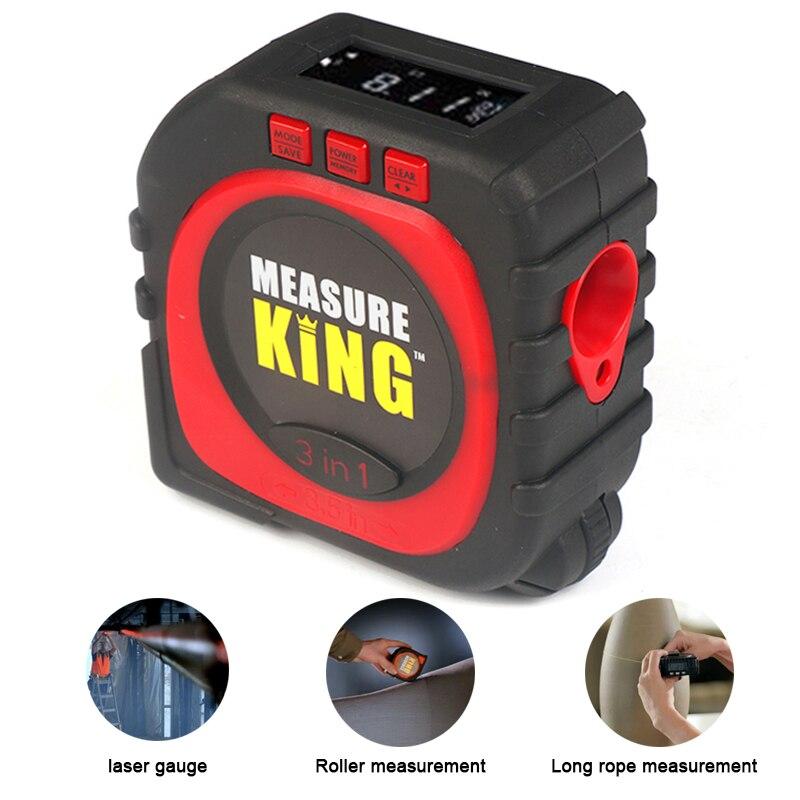 TUNGFULL 3-in-1 King Digita Measuring Laser Level Laser Tape Measure Meter Aluminum Seat Level Instruments Measuring Accessories цена