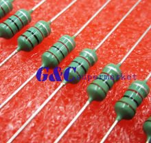 цена на 50PCS 0410 Color Ring Inductance 22uH 220K 1/2W Axial RF Choke Coil Inductor
