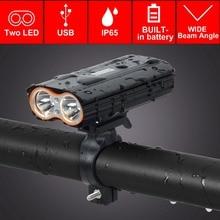 T SUN USB Rechargeable LED Bicycle Headlight 2400 Lumens Waterproof Bike Front Light Flashlight 4 Lighting Modes LED Bike Light
