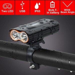 Image 1 - T SUN USB Sạc ĐÈN LED Xe Đạp Đèn Pha 2400 Lumens Xe Đạp Chống Thấm Nước Trước Ánh Sáng Đèn Pin 4 Chế Độ Chiếu Sáng ĐÈN LED Gắn Xe Đạp