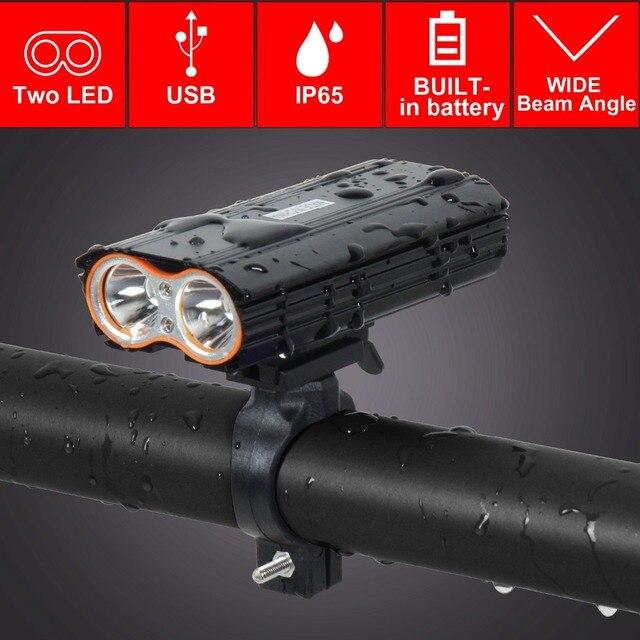 T SUN USB Sạc ĐÈN LED Xe Đạp Đèn Pha 2400 Lumens Xe Đạp Chống Thấm Nước Trước Ánh Sáng Đèn Pin 4 Chế Độ Chiếu Sáng ĐÈN LED Gắn Xe Đạp