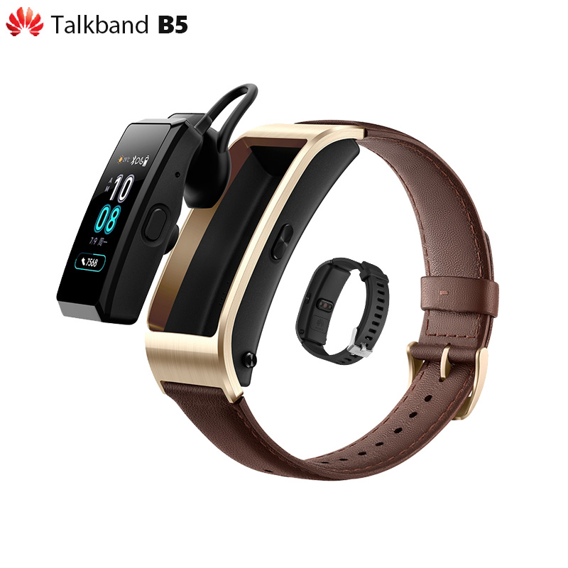 Original Huawei Talkband B5 Smart Wristband Color Screen Health Bracelet Wrist Bluetooth Headset Full Touch Scientific