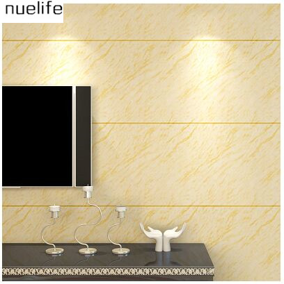 Modern imitation marble tiles stripe wallpaper simple 3D video wall ...