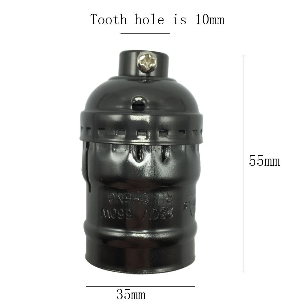 3PCS / Lot UL Vintage լամպի բազաներ E26 E27 Edison bulb - Լուսավորության պարագաներ - Լուսանկար 2