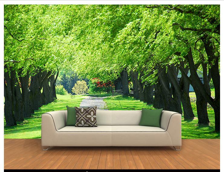 3d Wllpaper 3d Custom Murals Non-woven Wallpaper  3 D Forest Background Wall 3d Room Wallpaper