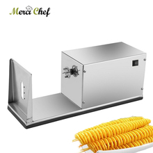 ITOP Automatic Electric Twisted Potato Slicer Machine Stainless Steel High Quality Vegetable Fruit Spiral Cutter