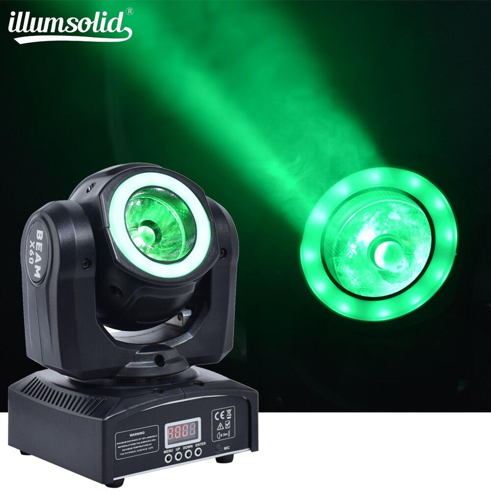 DJ светильник ing mini moving head светодиодный 60 Вт Луч сценический светодиодный светильник с 12 Светодиодный SMD5050 RGB супер яркий светодиодный стробо