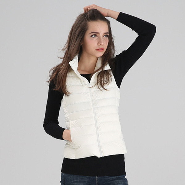 New Winter Women Slim Down Vest Fashion Thin And Light Down Jacket