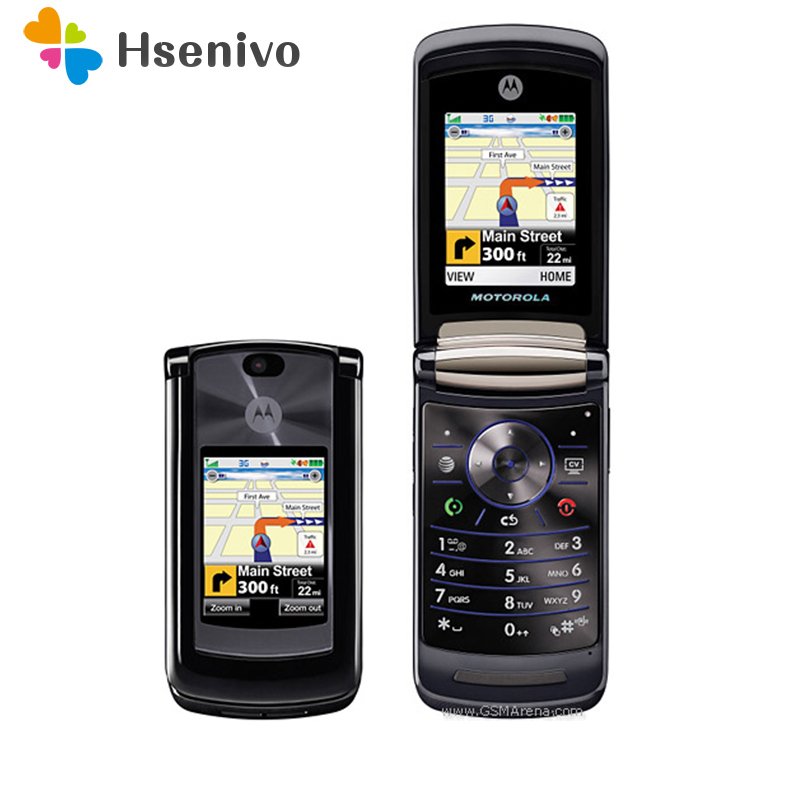 "100% Original Motorola RAZR2 V9 Mobile phone 2.2"" 3G 2GB 2.0MP GSM WCDMA Flip Cellular Phone Free shipping-in sealed box"