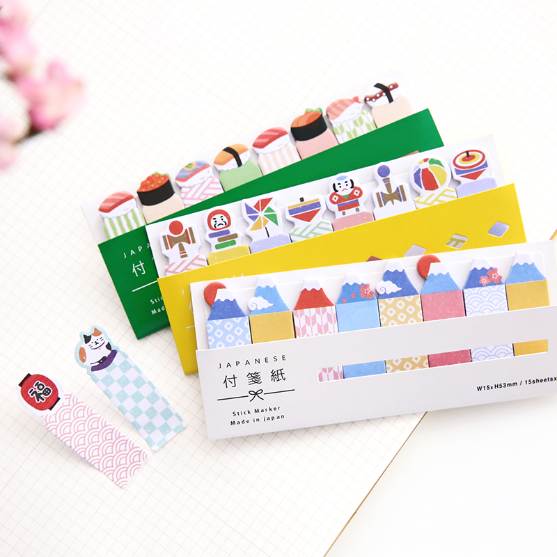 Image 3 - 48 pcs/Lot Cute post stick memo paper animal sticky note it stickers bookmark stationery papelaria office School supplies A6754note stickerstick memostickers bookmarks -